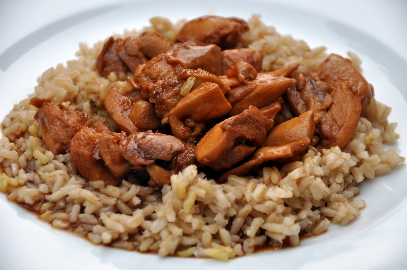 Rice And Chicken In Soy Sauce