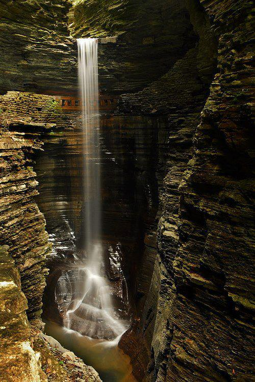 Glen Falls Waterfall Cave