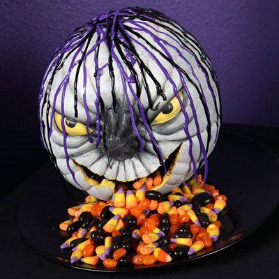 Candy DIY pumpkin 20 DIY Pumpkins Carving and Decor Ideas for Halloween