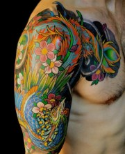 amazing colorful tattoo design