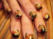 inspirational fall nail design