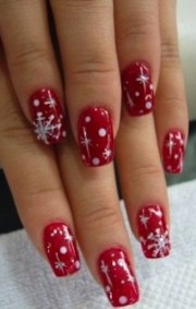 creative christmas nail design