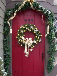 Christmas Door Decor - letter of recommendation