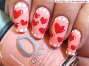 heart nail design valentine's