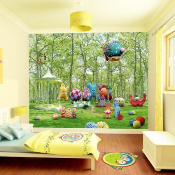 18 Colorful Wall Murals For Childrens Room