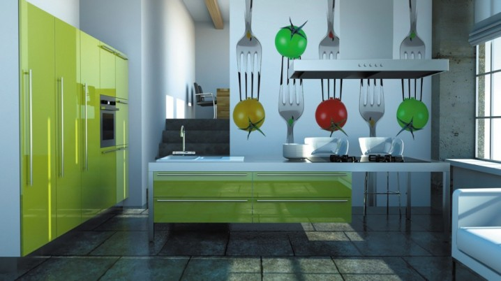 Modern One Wall Kitchen Design