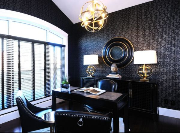 Masculine Home Office Designs