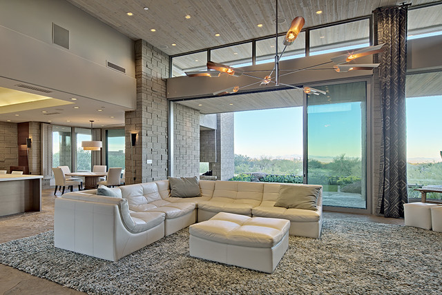 gray sofa sectional beds at fantastic furniture 20 mind-blowing interiors with floor to ceiling glass windows