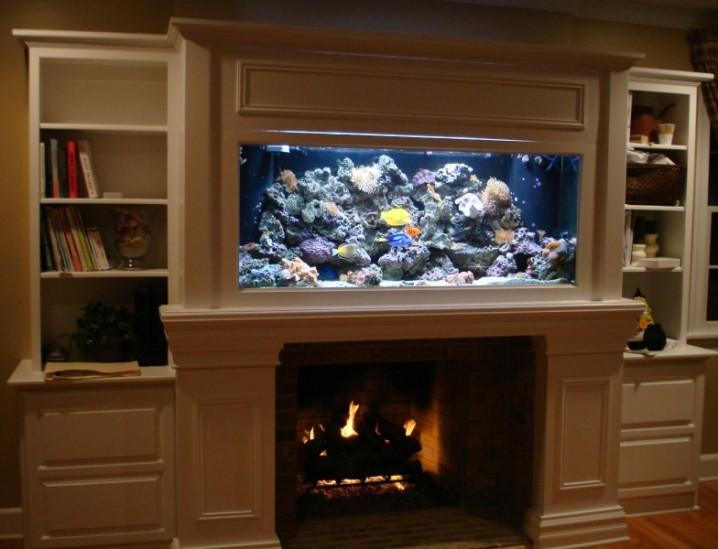 Stunning Living Room Designs With Aquarium