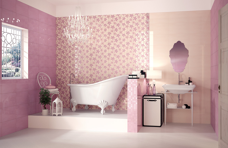 Pretty Pink Bathroom Designs
