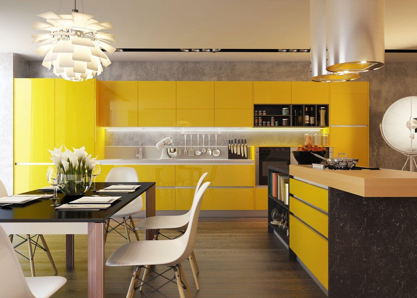 Modern Yellow Kitchen Designs