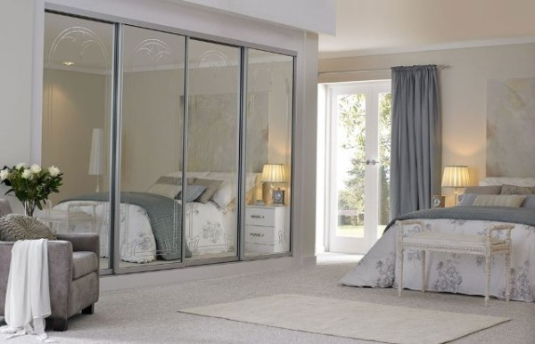 sliding bedroom closet door mirror Mirrored Closet Doors Will Make The Bedroom Look Bigger
