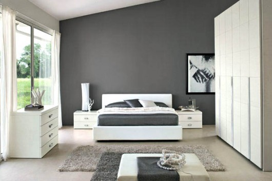 grey and white contemporary bedroom 16 Modern Grey And White Bedrooms