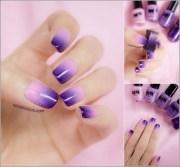 two-tone nail design