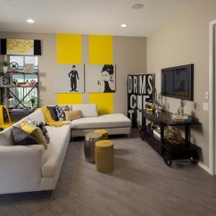 Grey Yellow Living Room Paint Colors For With Dark Brown Couch Modern And Designs