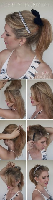 step-step ponytail