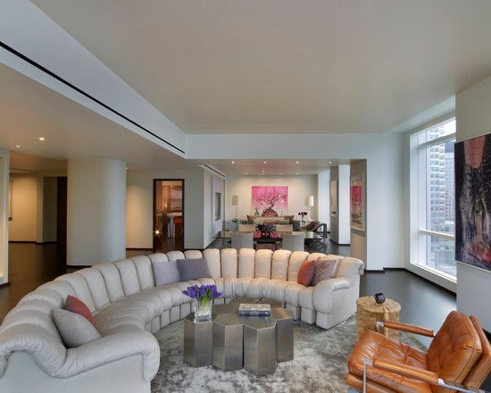 Living Room Designs With Curved Sofas