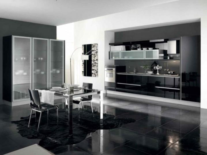 Modern Kitchen Designs With Glass Kitchen Cabinets
