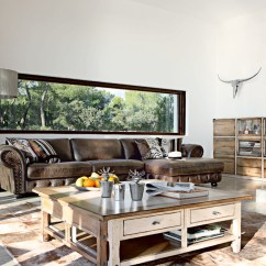 Images Of Living Rooms With Leather Furniture Small Space Room Ideas Modern Brown Sofa