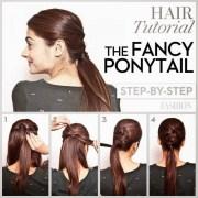 step-step ponytail
