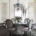 Gray dining room round table decorating ideas dixon hbx eclectic top