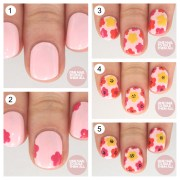lovely step-step floral nail