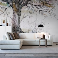 New Style Living Room Furniture Black And White Wallpaper Designs For Amazing Wall Murals You Are Going To Love