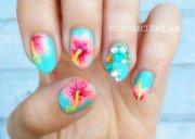 hot tropical nail design