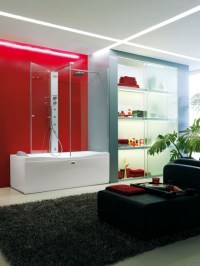 Magical Bathroom Designs With Red Accents