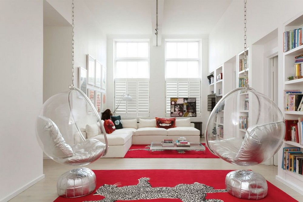 Add Bubble Chairs Into Your Living Room For Your Utmost