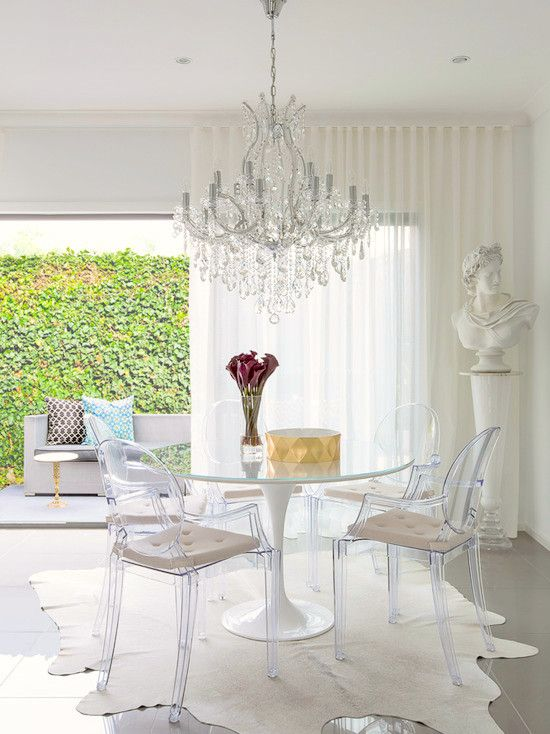 victoria ghost chair outdoor and ottoman replacement cushions 15 dining room designs with acrylic chairs