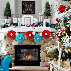 Living Room Ideas With Fireplace How To Arrange A Small Tv 22 Glowing Christmas Mantel Decorations That Will Warm ...