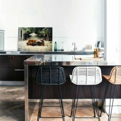 Modern Kitchen Bar Stools Ceiling Fans For The Mismatched That Steal Show