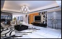 Dramatic Zebra Living Room Decoration Ideas