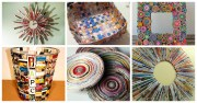 creative recycled magazine crafts