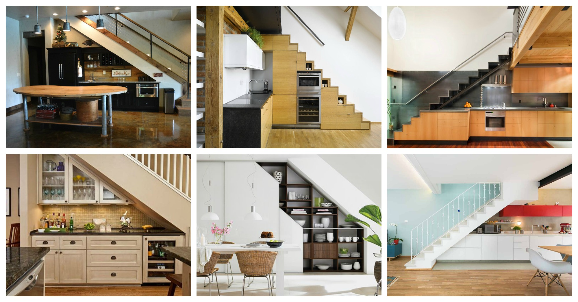 19 SpaceSaving Under Stairs Kitchens You Need To See