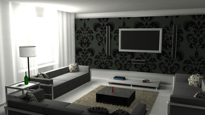 Black Coffee Table As A Focal Point In The Living Room