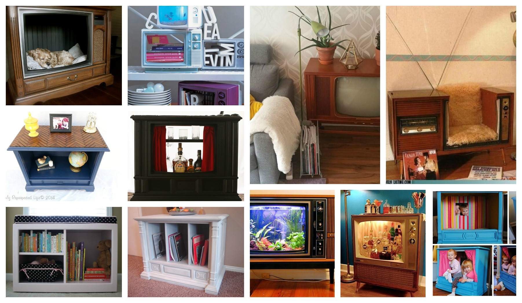How To Reuse The Old TV And TV Console In Fantastic Ways