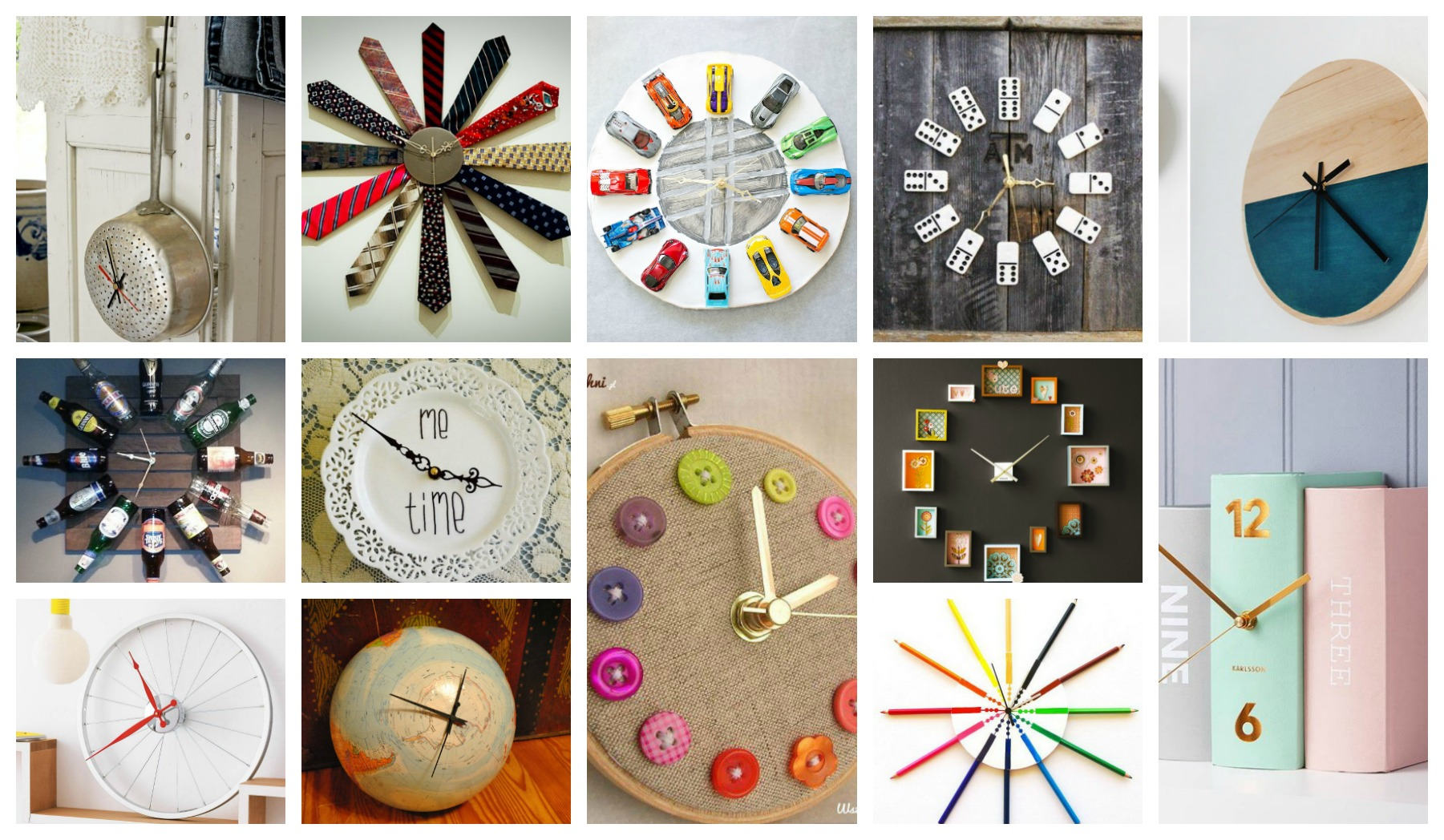 Easy And EyeCatching DIY Clocks To Personalize Your Interiors