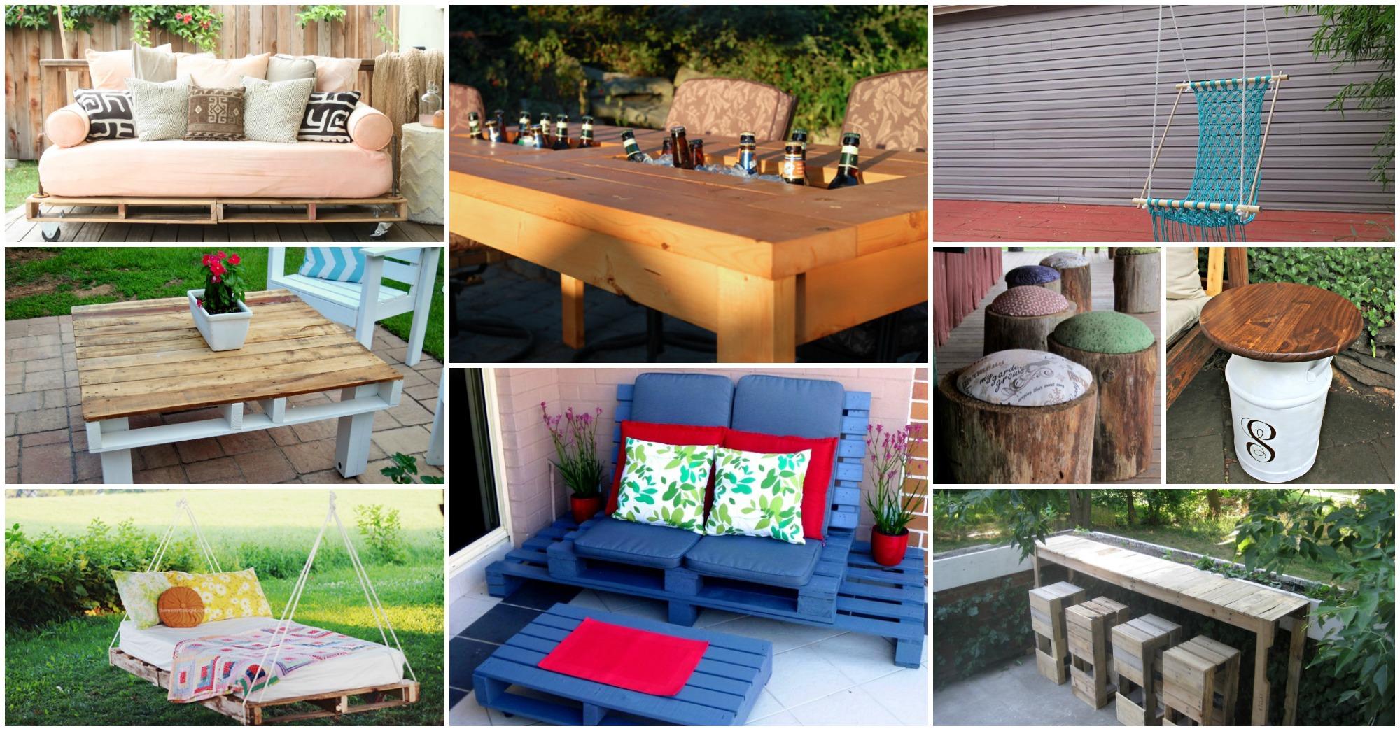 16 Budget Friendly DIY Backyard Furniture Ideas You Need
