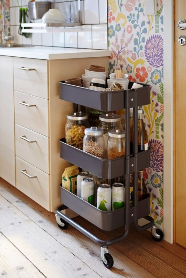 An IKEA R197SKOG Cart Is One Of The Best Storage Solutions