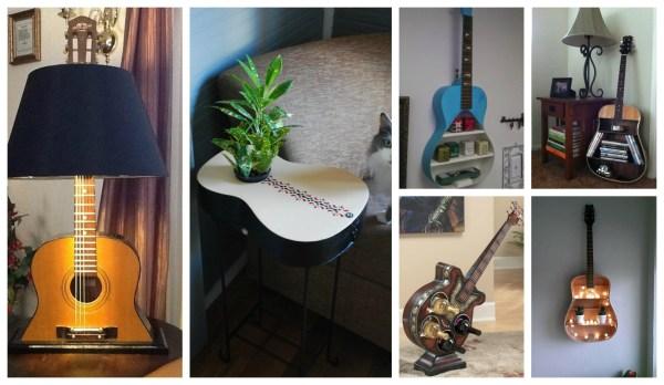 Repurpose Guitars In Home Decor