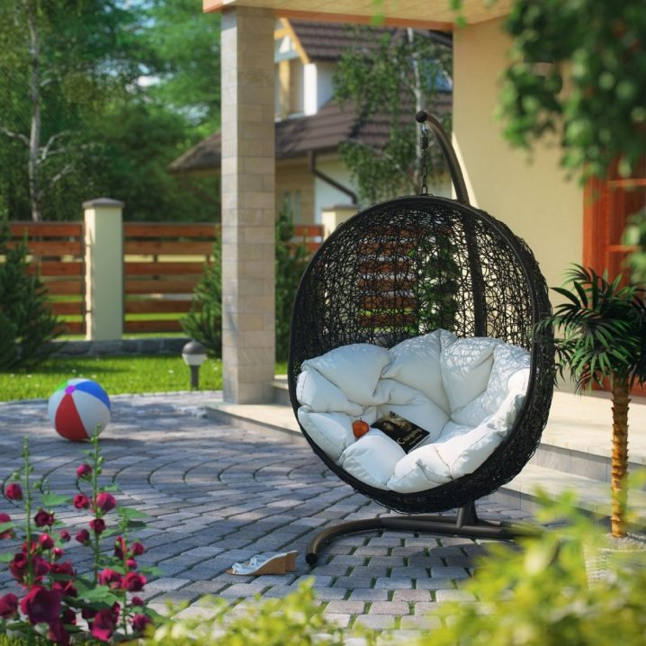comfy outdoor chair silver narnia hanging furniture for your utmost relaxation