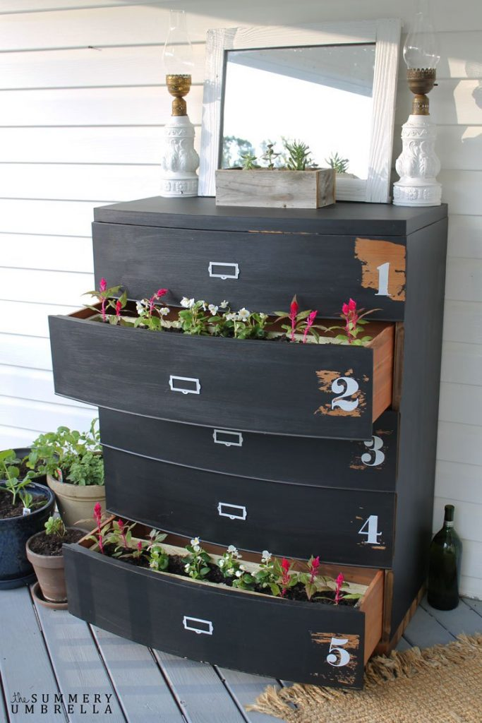 How To Turn Old Dressers Into Amazing Planters