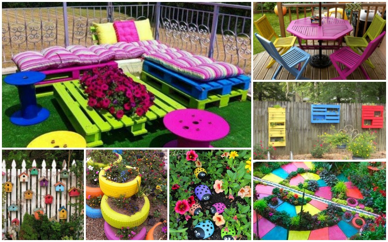 Colorful Decorations That Will Make Your Garden Look More Fun