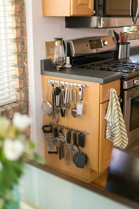 kitchen utensil caddy anti fatigue mat how to use the empty space on side of cabinets
