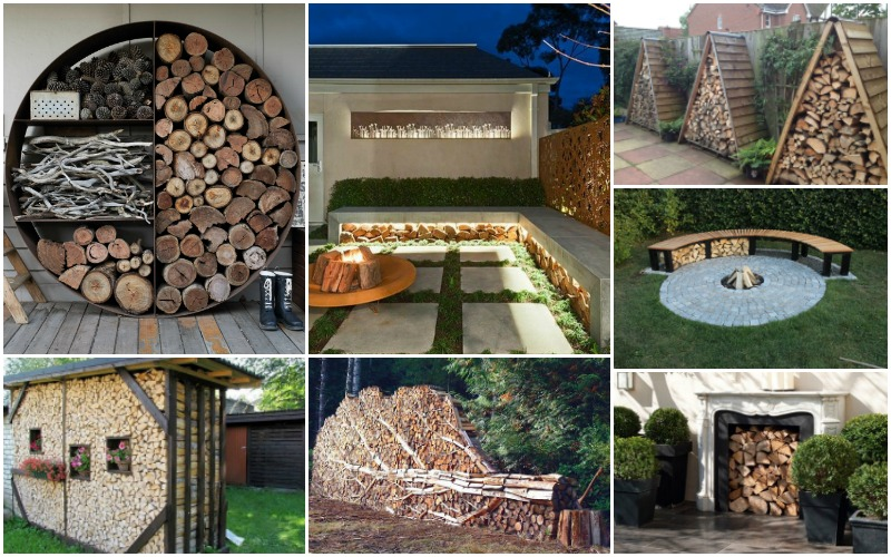 20 Creative Outdoor Firewood Storage Ideas You Need To See
