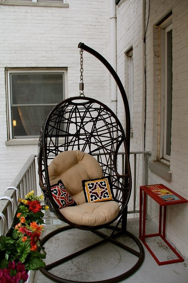 swinging outdoor chair leather ikea wonderful balcony hammocks and hanging chairs you should not miss
