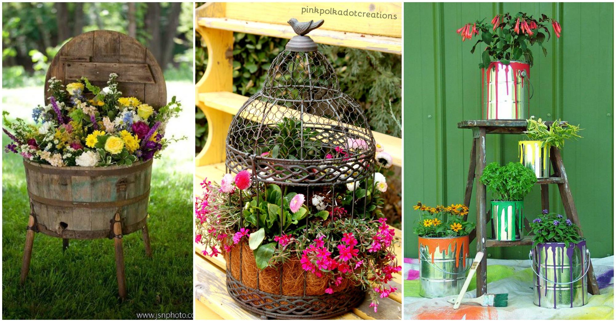 10 Brilliant Planter Alternatives For Your Backyard