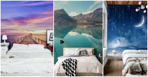 Astonishing Wall Murals Make Bedroom